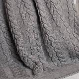 Покрывало вязаное  220x240 BETIRES BREMEN GREY, фото 2
