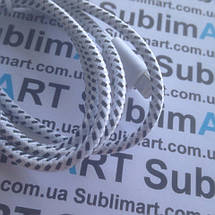 USB кабель усиленный 100 см для iPhone, iPod, iPad 8 pin (белый), фото 2