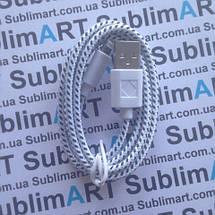 USB кабель усиленный 100 см для iPhone, iPod, iPad 8 pin (белый), фото 3