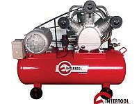 Ременной 3-х цилиндровый компрессор на 300 литров, 380 Вольт Intertool PT-0052
