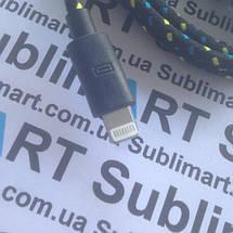 USB кабель усиленный 100 см для iPhone, iPod, iPad 8 pin (черный), фото 2