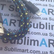 USB кабель усиленный 100 см для iPhone, iPod, iPad 8 pin (черный), фото 3