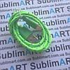 USB кабель усиленный 100 см для iPhone, iPod, iPad 8 pin (салатовый)