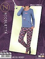 Женская  красивая  пижама  с брюками Nicoletta 96090