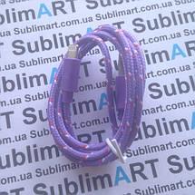 USB кабель усиленный 100 см для iPhone, iPod, iPad 8 pin (фиолетовый), фото 3