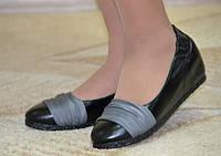 Туфли женские черные кожа № 1218