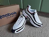 Мужские кроссовки Reebok Daytona DMX White/Black белые с черным