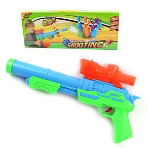 Детский пистолет бластер с мягкими и гелевыми пулями Super Shooting 132428