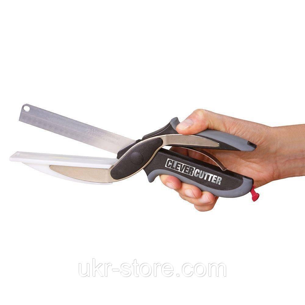 Кухонный нож 2 в 1 Clever Samrt Cutter – умный нож ножницы