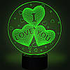 Настольный светильник 3D - I love you