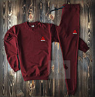 Спортивный костюм бордовый Reebok с маленьким логотипом топ-реплика