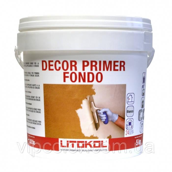 Litokol DECOR PRIMER FONDO праймер для подготовки оснований перед нанесением Starlike Deco 5кг
