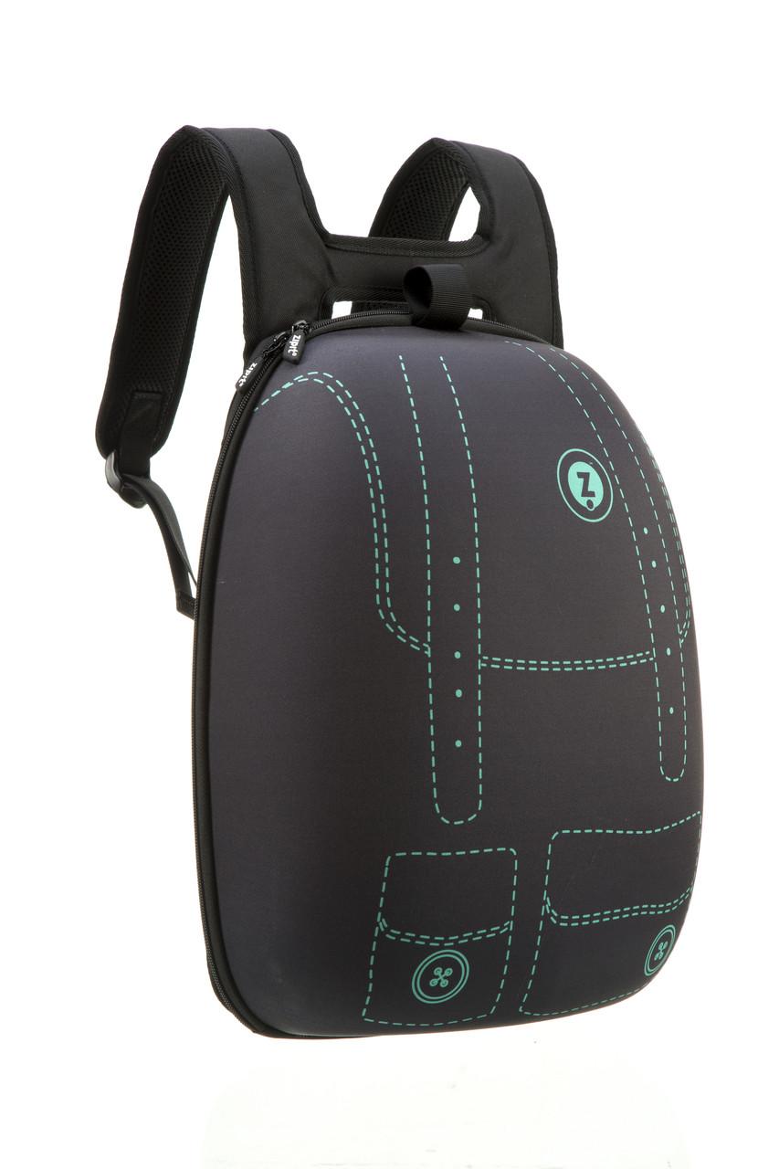 Рюкзак Zipit SHELL цвет BLACK & STITCHES (черный с стежками)