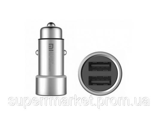 Автомобильное зарядное устройство Xiaomi Mi Car Charger Silver , фото 2