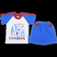 Детский летний костюмчик футболка и шортики, хлопок; ТМ Виктория, р. 86-92, 98-104, 110-116, Украина
