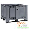 Пластиковый крупногабаритный контейнер на 4-х ножках с двумя полозьями 1200x1000x830мм