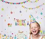 Интерьерная наклейка - Happy Birthday  (148х142см)  , фото 2