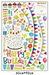 Интерьерная наклейка - Happy Birthday  (148х142см)  , фото 7