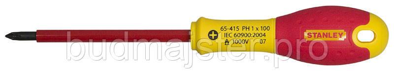 Викрутка Stanley електрика ізольована з жалом під кліц Ph 1х100мм 1000V