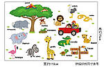 Интерьерная наклейка - Животные на английском  (118х75см), фото 3