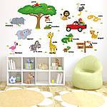 Интерьерная наклейка - Животные на английском  (118х75см), фото 4