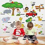 Интерьерная наклейка - Животные на английском  (118х75см), фото 6