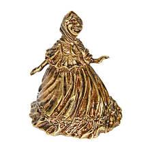 Колокольчик бронза Баба в пышной юбке