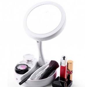 Зеркальце с подсветкой для макияжа круглое My Fold Away Mirror 131541