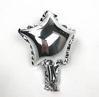 Шар фольгированный звезда СЕРЕБРО, 4 дюйма (12 см)
