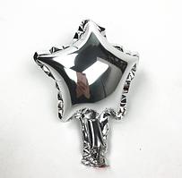 Куля фольгована зірка СРІБЛО, 4 дюйма (12 см)