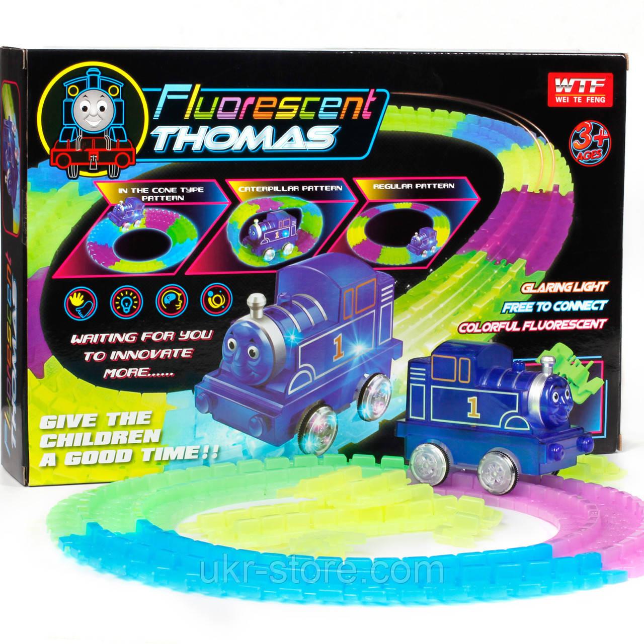 Светящаяся железная дорога паровозик Томас