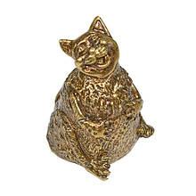 Колокольчик бронза Толстый кот