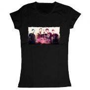 Женская футболка стильная с принтом Dead by April band