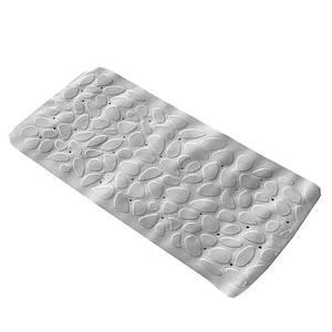 Коврик в ванную комнату антискользящий резиновый 36х75 см Bathlux Hojas 40245