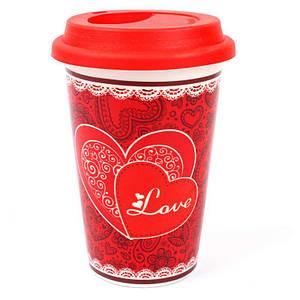 Кружка с силиконовой крышкой в подарочной упаковке Love 132042