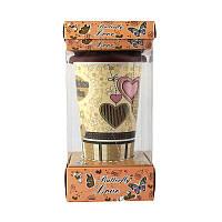 Кружка с силиконовой крышкой в подарочной упаковке Love Butterfly