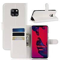 Чехол-книжка Litchie Wallet для Huawei Mate 20 Pro Белый
