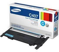 Заправка картриджа Samsung CLT-C407S cyan для принтера Samsung CLP-320, CLP-320n, CLP-325, CLP-325w, CLX-3185