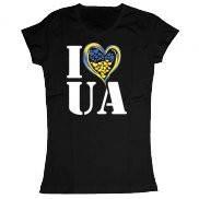 Женская футболка летняя с принтом I Love UA