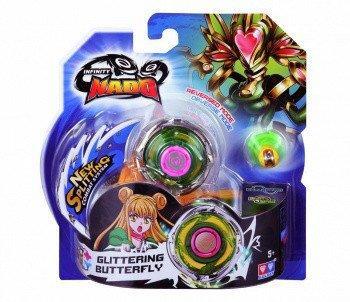 Волчок Auldey Infinity Nado Стандарт Glittering Butterfly c устройством запуска YW624303