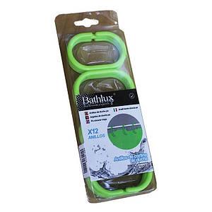 Кольца для шторки 12 шт. Bathlux Green Leaves 30014