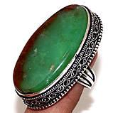 Крупное кольцо хризопраз в серебре, овальное кольцо с хризопразом 17,5-18 размер Индия!, фото 9