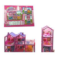 Кукольный дом с куклами и мебелью 969