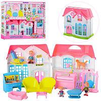 Кукольный дом с куклами и мебелью 3907
