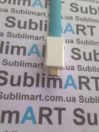 Usb кабель 20 см для Samsung, Lenovo, HTC, и т. д. (голубой), фото 2