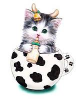 Набор для творчества со стразами на картоне 5D Котик-младенец 21*25см 188381