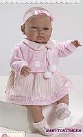 Пупс младенец, мягконабивная кукла Сара 52 см Berbesa 5201