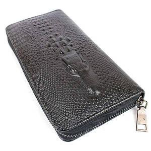 Мужской клатч-портмоне Wallerry Сrocodile с тиснением под крокодила 138421