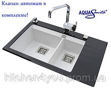 Гранитна мойка AquaSanita Delicia Plus GQD-150 AW (860х540мм.)