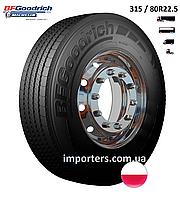 Шина Вантажна 315/70 R22,5 M+S/3PMSF ROUTE CONTROL D провідна вісь BFGoodrich (Michelin) Польща
